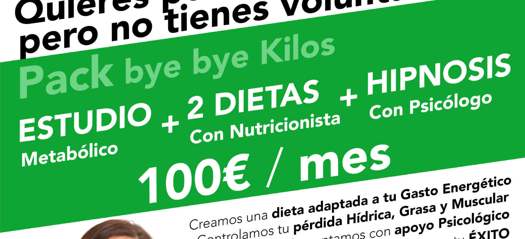 HIPNOSIS CLÍNICA CON PSICÓLOGO + CONSULTA DIETÉTICA + PRESOTERAPIA