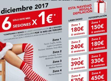 6 SESIONES POR 1€* (Láser de Diodo o Fotodepilación)